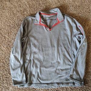 Gray sporty half zip